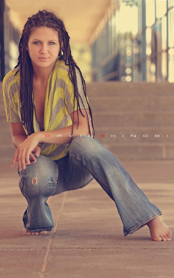 Female model photo shoot of Evelyn Veesovata by David Shinobi