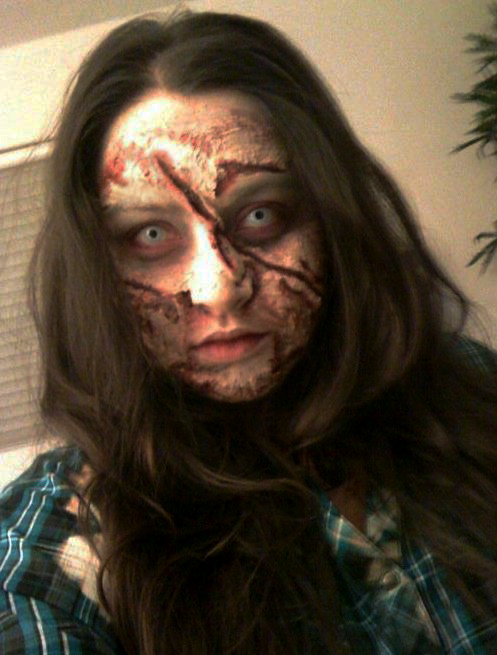 Miami, Fl. Aug 27, 2011 Makeup by StephieC Special Effects Zombie