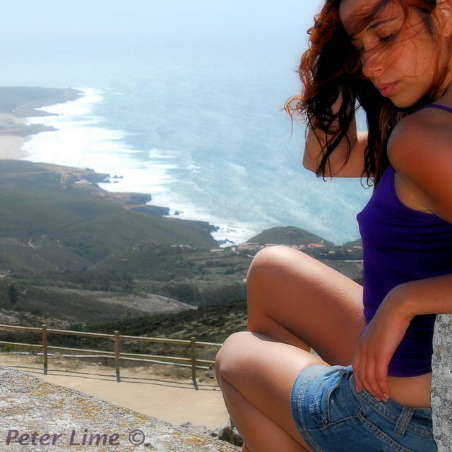 Male and Female model photo shoot of Peter Lime and Almost-Moon in Portugal, Peninha