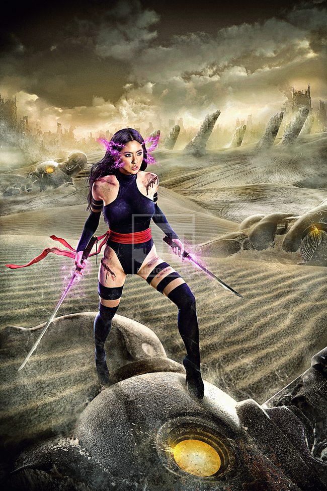 Makati City, Philippines Aug 29, 2011 Jay Tablante Psylocke in Genosha Island