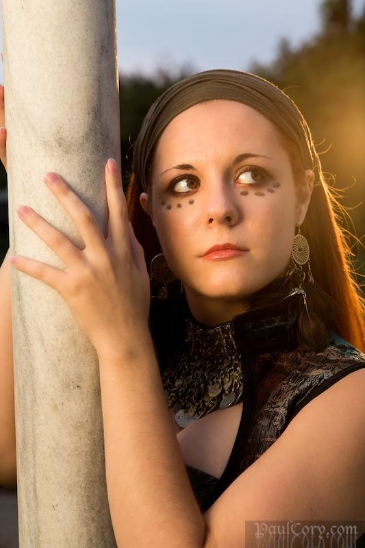 Female model photo shoot of Felspar by Paul Cory in JC Raulston Arboretum, Raleigh NC