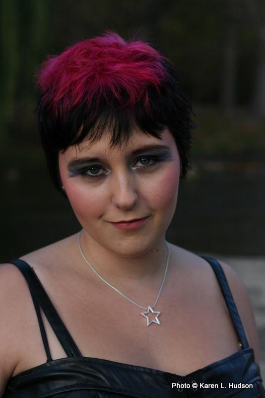 Female model photo shoot of Karen L Hudson in Pendleton Falls Park Community Center