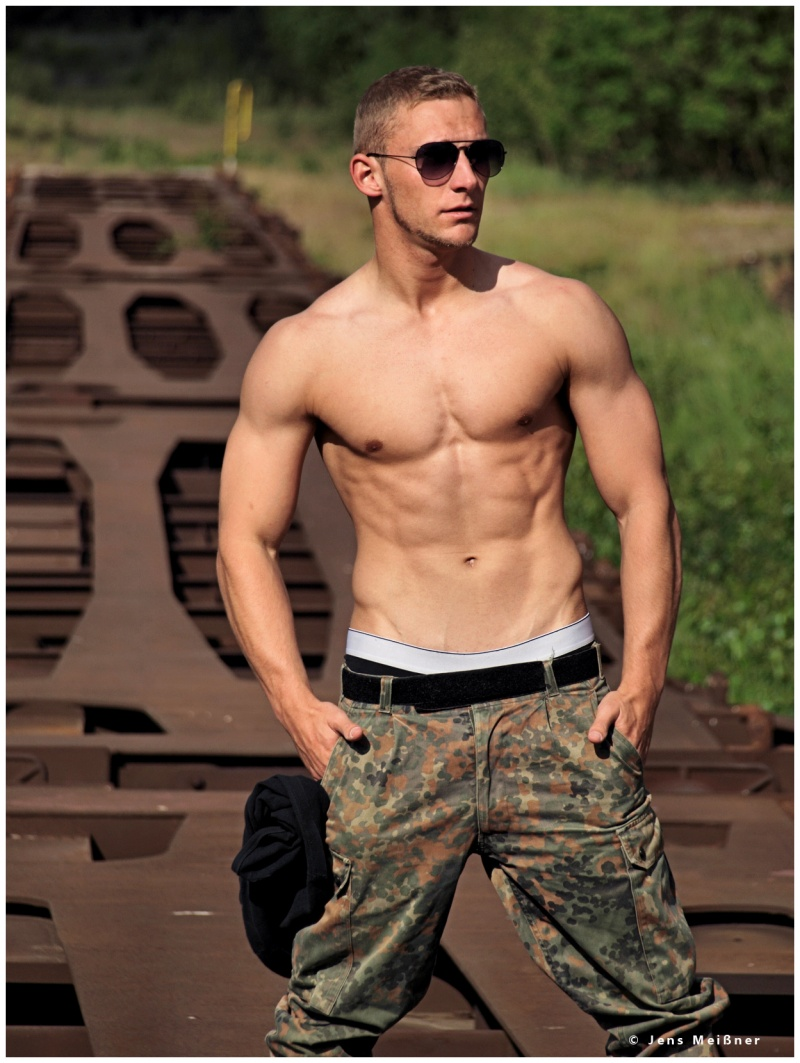 Male model photo shoot of Maik Lehmann in outdoor, military airport