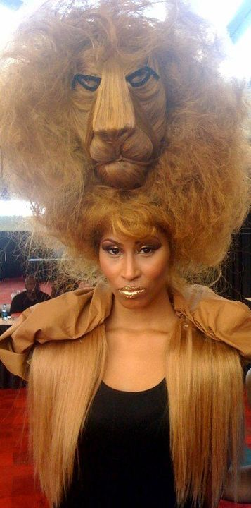 Female model photo shoot of shira santiago in Bonner Bro's hairshow 2011