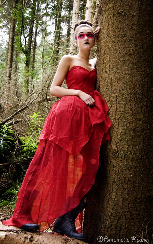 Female model photo shoot of Aishling Clarke Makeup by Antoinette Keane in Hell Fire Club, Dublin