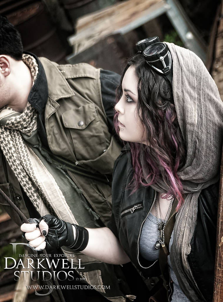 Male and Female model photo shoot of Darkwell Studios and Devan The Impaler