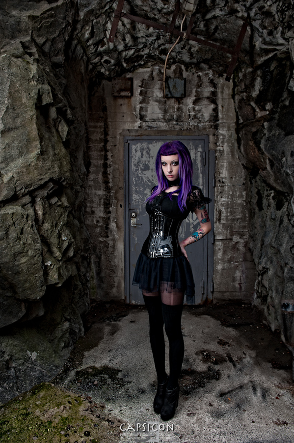 Male and Female model photo shoot of Borje Ensgard Photography and Murderotic