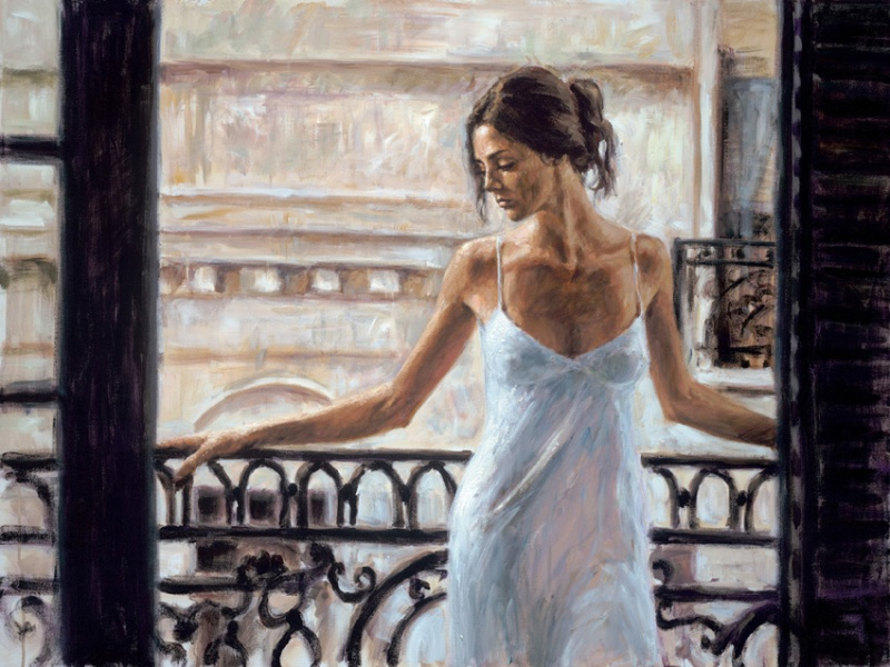 Sep 19, 2011 Fabian Perez Art Publishing, LLC Balcony at Buenos Aires