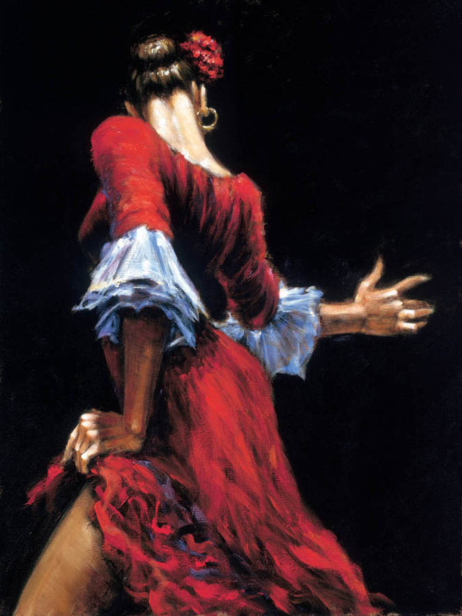 Sep 19, 2011 Fabian Perez Art Publishing, LLC Flamenco Dancer III