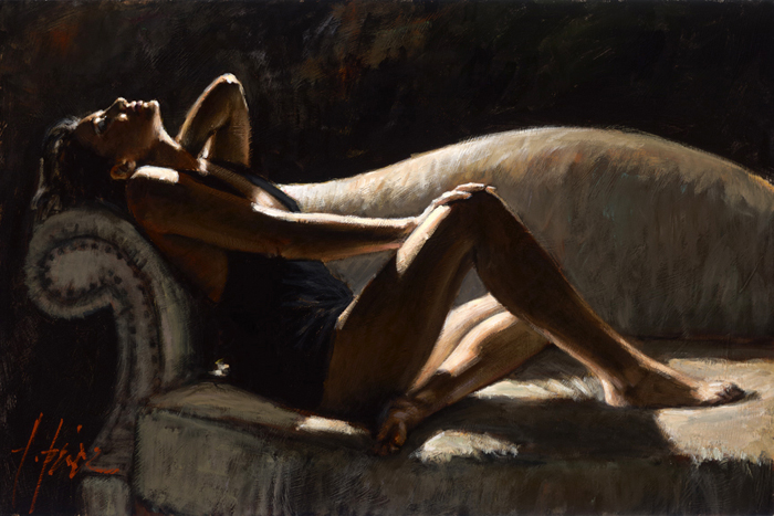 Sep 19, 2011 Fabian Perez Art Publishing, LLC Paola on the Couch