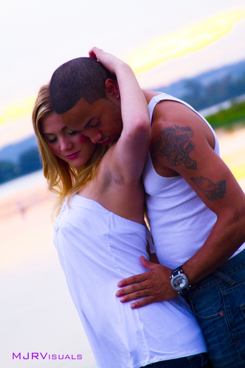 Male and Female model photo shoot of MJRvisuals llc, Calvin Washington and Russian_Queen89 in Gravity Park