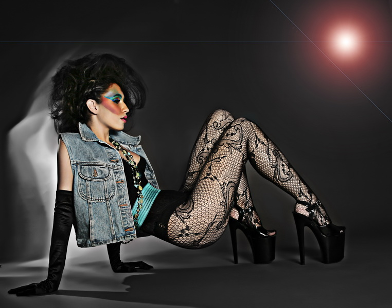 my studio Costa Mesa  CA Sep 26, 2011 phillip ritchie inspired by an add just love the use of colour and it gave the mua wardrope stylist and model to be creative just love what they came up with  I am still teaching myself  photoshop and have  enhanced this image
