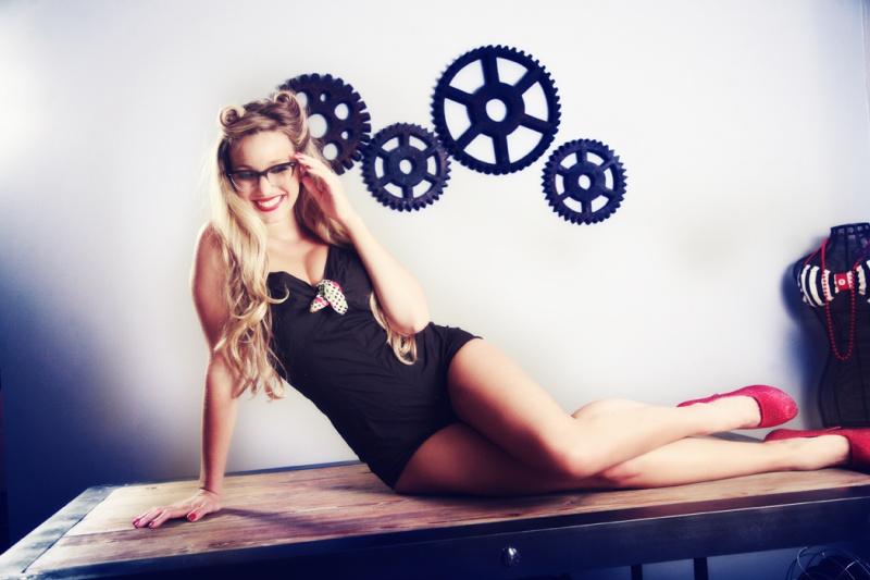 Female model photo shoot of Victoria Lara - Goretsky in Los Angeles