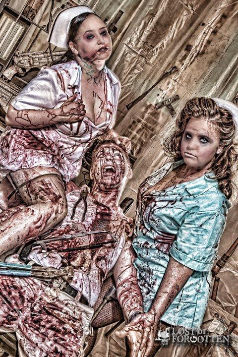 London, Ohio Sep 30, 2011 LostorForgotten Bloody Nurses and Victim. I am on left.