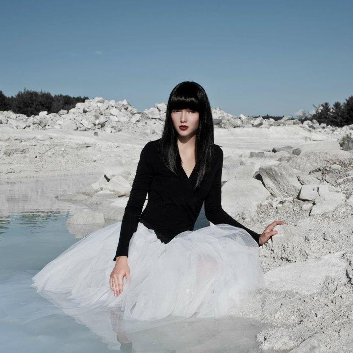 Female model photo shoot of Mademoiselle k by Valerie Lefebvre