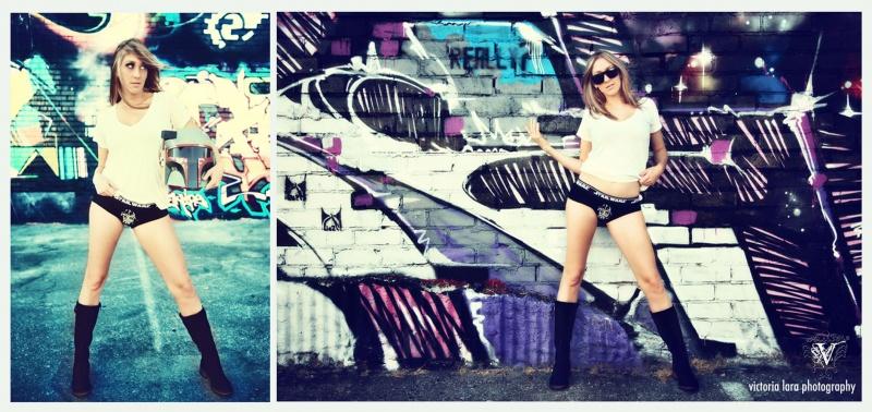Female model photo shoot of Victoria Lara - Goretsky in LA Streets