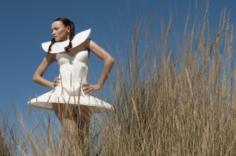 Female model photo shoot of Maison Bizarre and Deborah Parcesepe by MF---