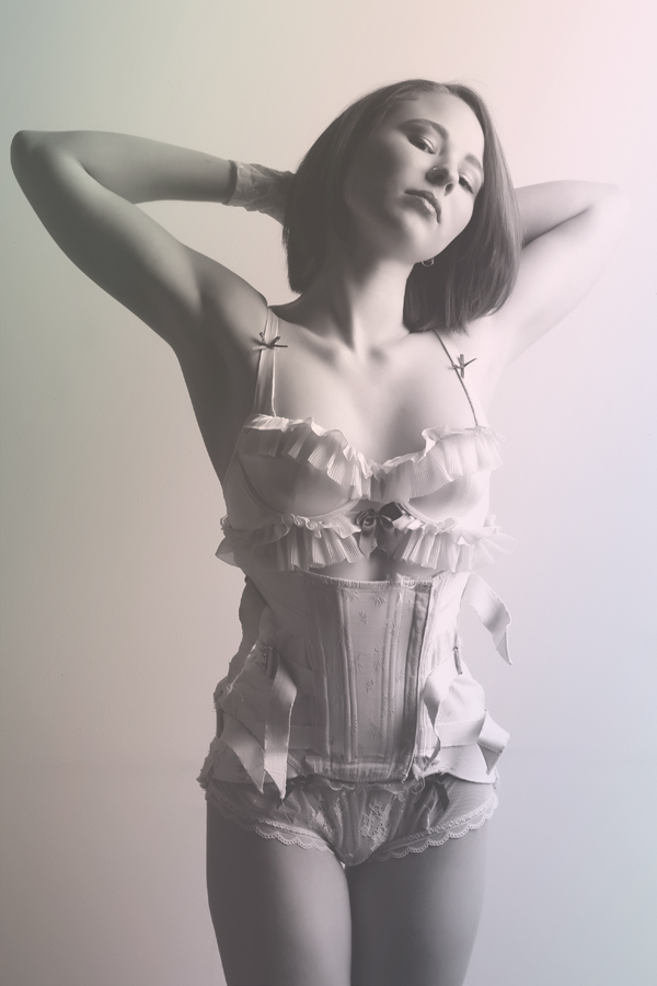 Female model photo shoot of Cinnamon Girl and Porcelain by noisenest