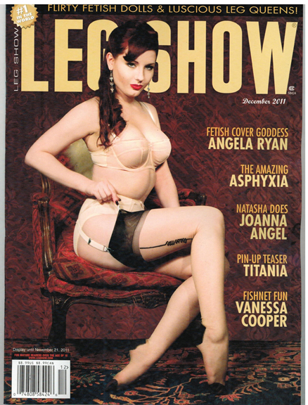 NYC Oct 05, 2011 vivaspinups Leg Show Cover Dec. 2011