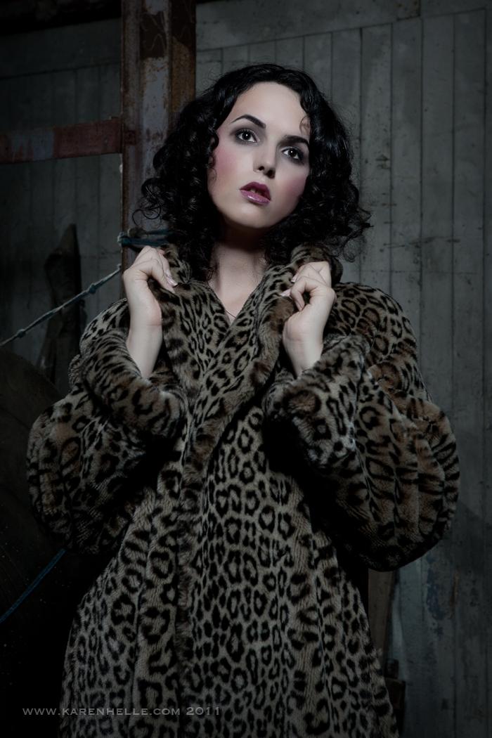 Female model photo shoot of Ally Houlli by Karen Helle in Brentford Docks Warehouse, makeup by Tass Collier