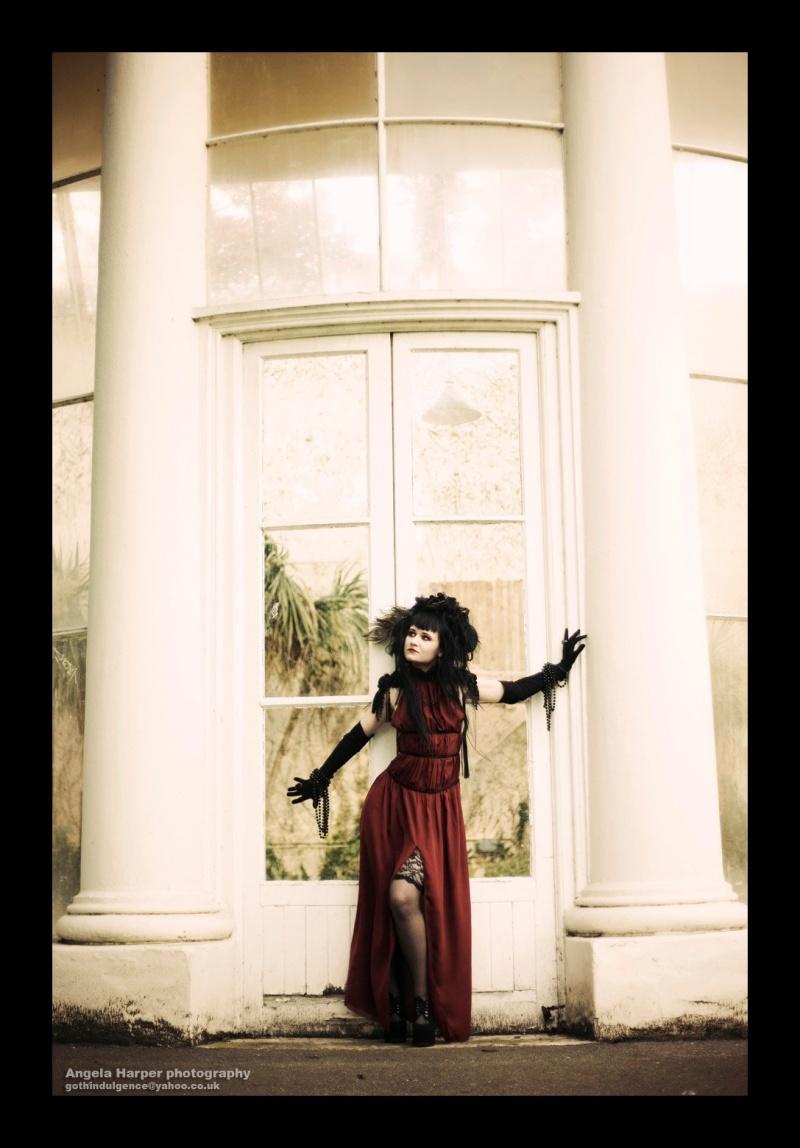 Female model photo shoot of Haute Noir and Erica Krasickaite by AngeHarperPhotography, clothing designed by AnnaKarenina
