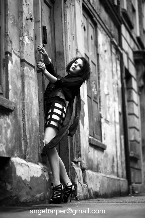 Female model photo shoot of Haute Noir by AngeHarperPhotography