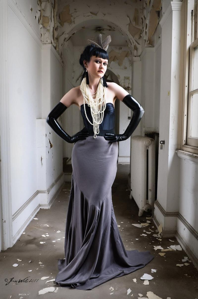 Female model photo shoot of Haute Noir and Erica Krasickaite by Jon White Photography