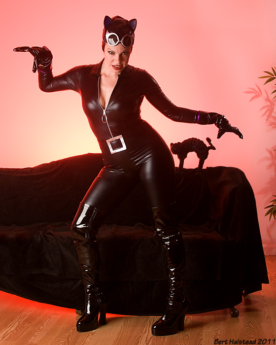 CoverShot Studio Oct 16, 2011 Bert Halstead Catwoman!  --  Costume courtesy of The Costume Company, Arlington, MA