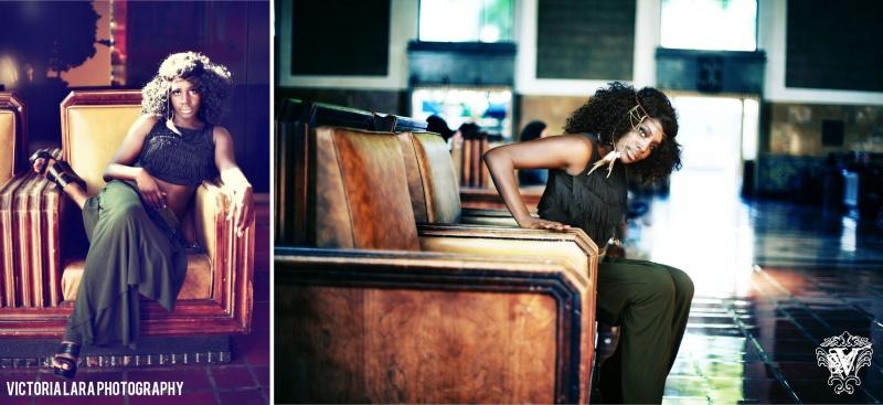 Female model photo shoot of Victoria Lara - Goretsky and Frenchie in LA