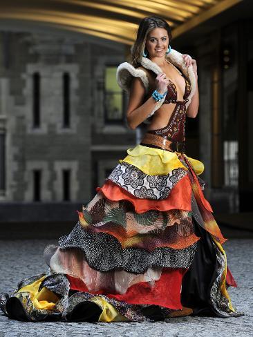 Female model photo shoot of Natasha Dwyer in Dressing Miss Universe 2010 National Costume for Australia 2010