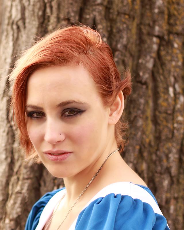 Female model photo shoot of Mikayla Dawn by Filles de Pin-up in Herman Hill Park, Wichita
