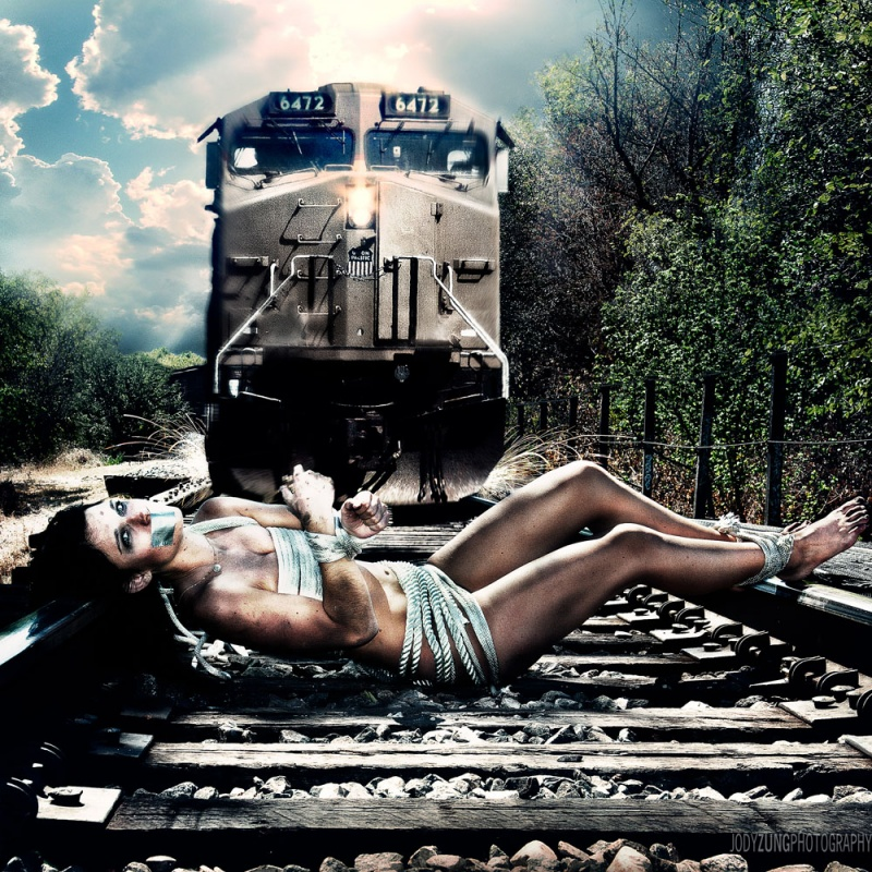 the wrong side of the tracks Oct 20, 2011 Jody Zung Holly vs the Train