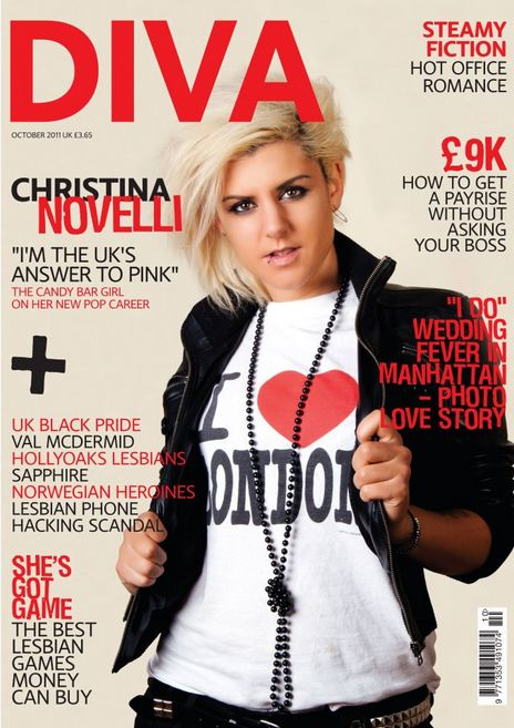 Hackney Oct 21, 2011 (c) Diana Thompson October Front Cover, Diva Magazine - Christina Novelli