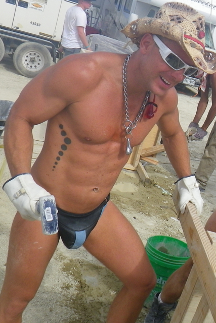 Male model photo shoot of Thom Knight in Burning Man 2011