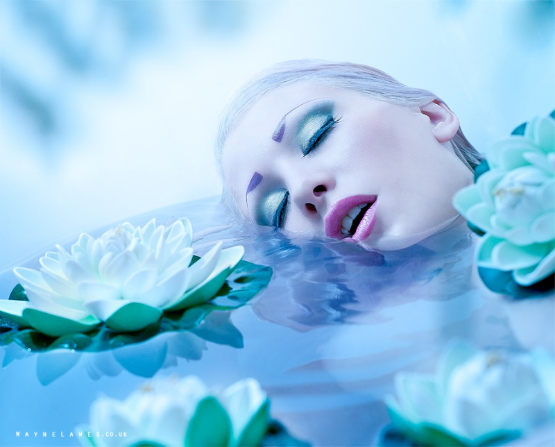 Oct 23, 2011 Drowning with water lilies - by Silverlight