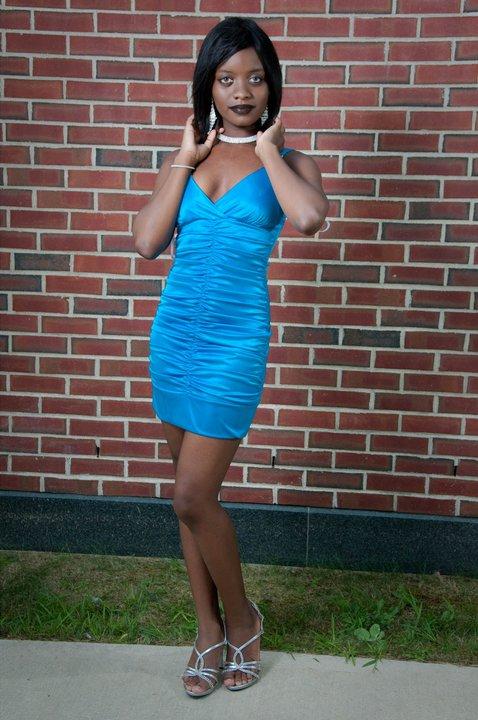 Fallriver, MA Oct 26, 2011 Kitty V in the lovely blue dress