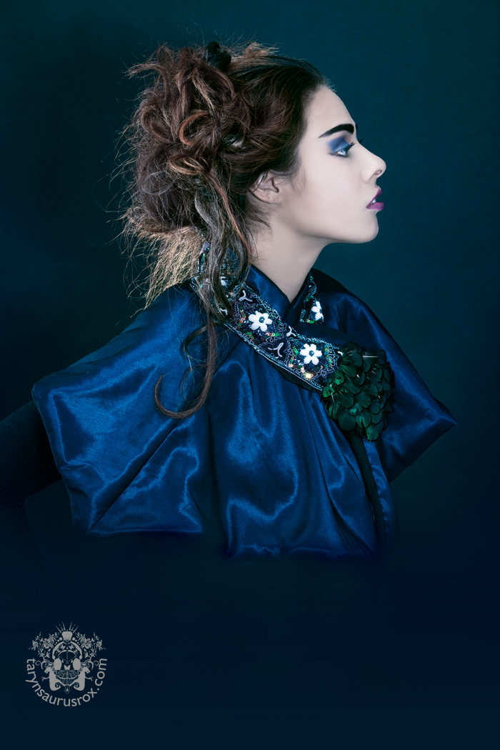 Female model photo shoot of Yolanda Marie Sanchez in Bayonne, NJ, clothing designed by Berit New York