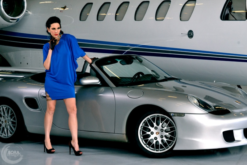 Danbury Airport, CT - Sokolova Look Book Nov 02, 2011 Bora Images ... with a blue dress on