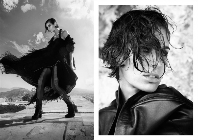 Female model photo shoot of Alba Mestre in Barcelona 2011