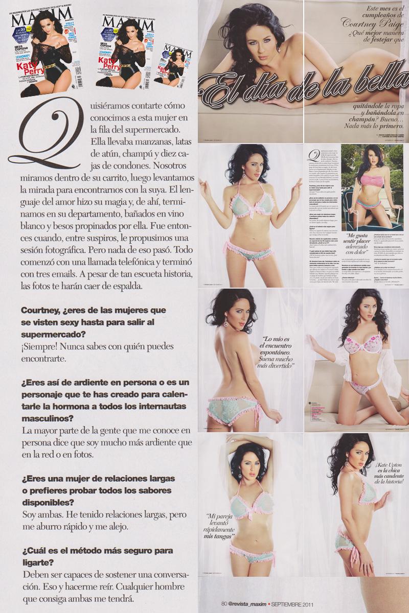 LA Nov 02, 2011 Danny Griffin/Maxim Magazine Courtney Paige