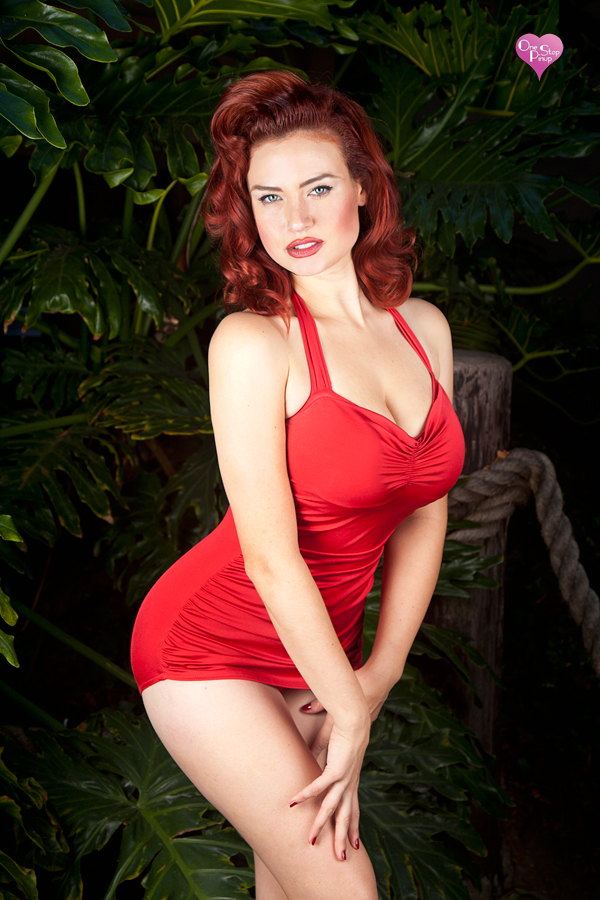 Female model photo shoot of One Stop Pinup in Los Angeles Ca