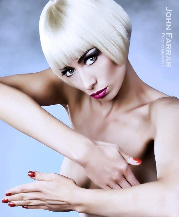Female model photo shoot of KirstyCorner by Brightonian, makeup by magika_makeup