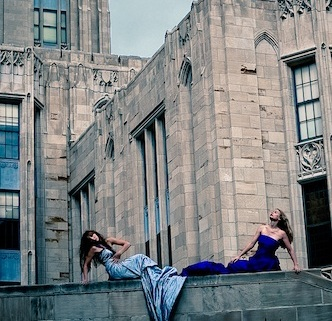 Female model photo shoot of Christiana D in The Cathedral of Learning