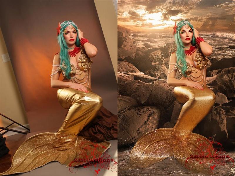 Female model photo shoot of Zarrin Henna Retouch