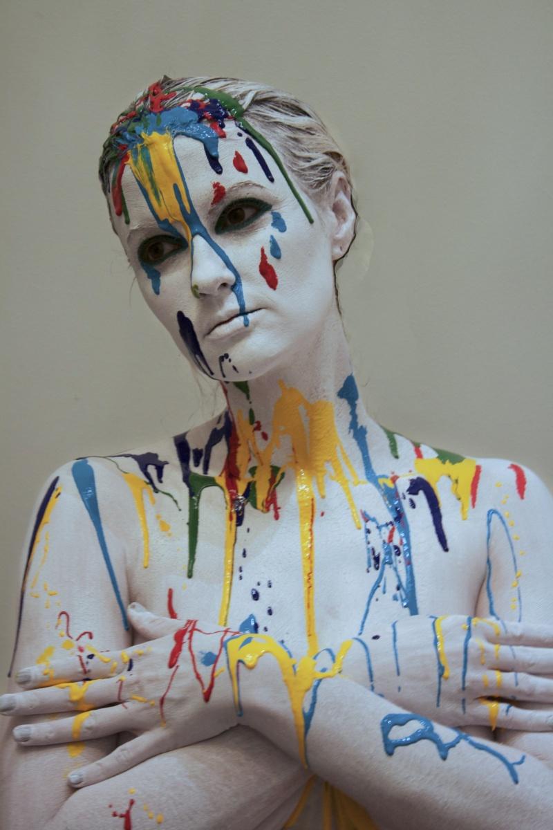 NYC Nov 15, 2011 Daniela Rodriguez Aquacolor & Acrylic Body paint