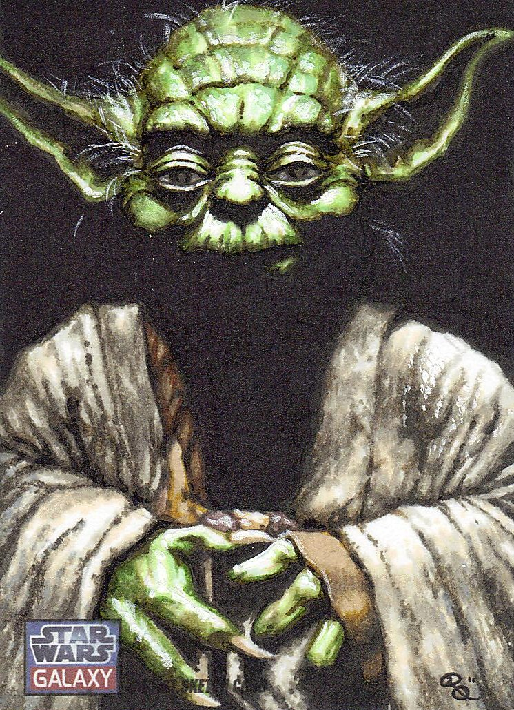 Nov 16, 2011 Lucasfilm Ltd and Topps trading cards Yoda. Star Wars Galaxy 7 released  by Topps
