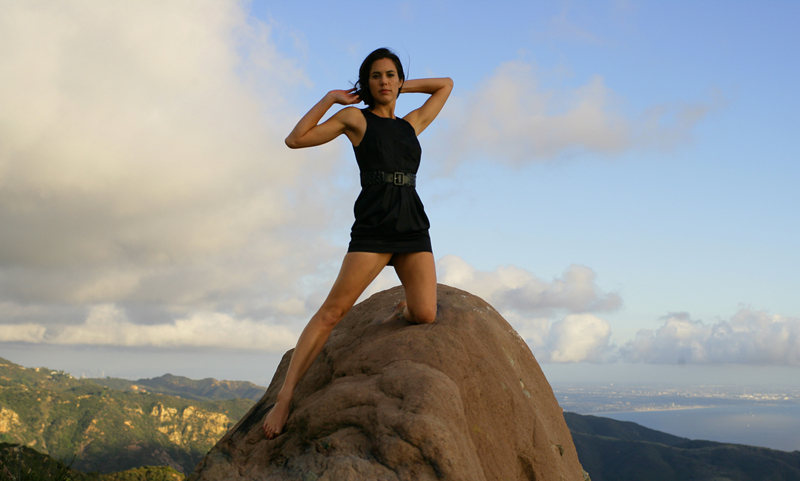 Female model photo shoot of DebbieZ by R. Leroy photography in Las Flores Canyon, Malibu