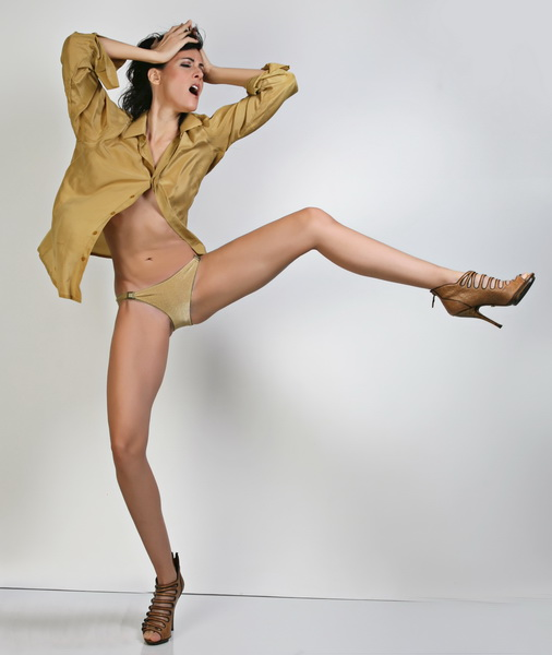 my studio Costa Mesa CA Nov 28, 2011 phillip ritchie Totally awesome long   legged Jacqueline  in the Silk Shirt series