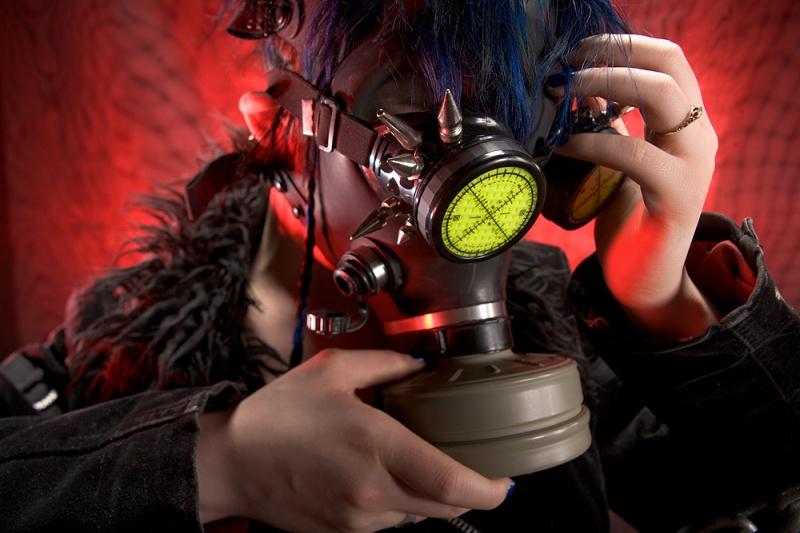 D. M. Gremlin Studios, Long Beach, CA Dec 01, 2011 2011 D. M. Gremlin Studios Gas Mask and Goggles