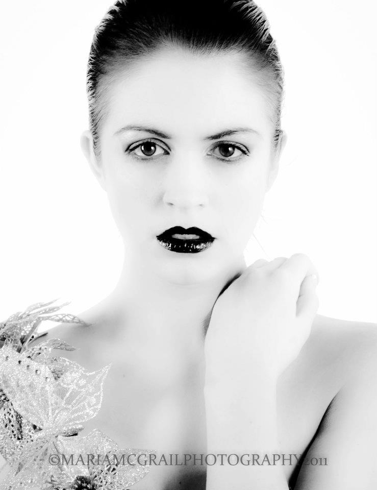Female model photo shoot of Aishling Clarke Makeup